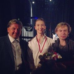 Young American at the Bolshoi: Julian MacKay wins Sochi and Istanbul medals - Vadim Pisarev, me , and Vladimir Malakhov