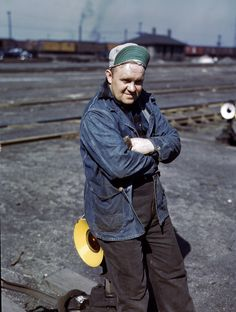 April 1943, a switchman at the Proviso Yard of the Chicago & North Western Railroad