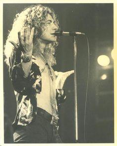 Robert Plant performing 197?