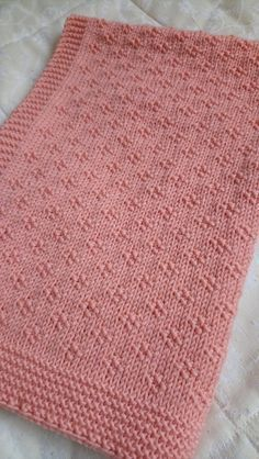 Baby Knitting Patterns, Free Baby Blanket Patterns, Knitting Stitches, Baby Patterns, Free Knitting, Simple Knitting, Shawl Patterns, Easy Knit Baby Blanket, Knitted Baby Blankets