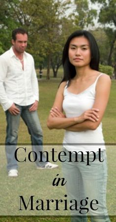 Contempt kills marriages.  Is contempt present in your marriage?  Find out what contempt in marriage looks like and how to prevent it.  {Marriage Tips, Marriage Advice, Healthy Marriage}