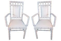 1960s Faux-Bamboo Armchairs, Pair on OneKingsLane.com
