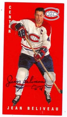 The Gentleman Mr Jean Béliveau Montreal Canadiens, Mtl Canadiens, Hockey Teams, Hockey Players, Hockey Stuff, Canadian Football, Tall Boys, Hockey Cards, National Hockey League
