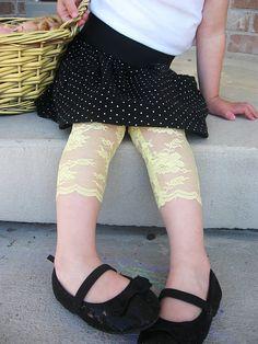 DIY Lace leggings.