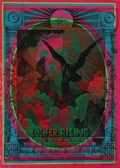"Poster for Kenneth Anger's ""Lucifer Rising"""