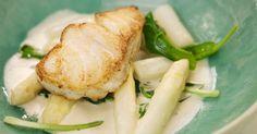 Gebakken kabeljauw met asperges