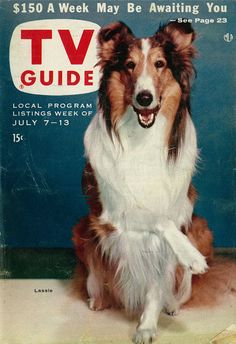 1956 TV Guide Cover, Featuring Lassie | Flickr - Photo Sharing!