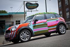 MINI Countryman Covered in Yarn for Our Event in Austin, TX with Avant Garde