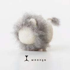 woonya【lion・shiro】 猫/cat/羊毛フェルト/Needle Felting