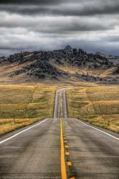 Montana highways go on and on....