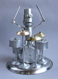 Bohn Jonham - Found Object Robot Assemblage Drummer Sculpture By Brian Marshall by adopt-a-bot, via Flickr