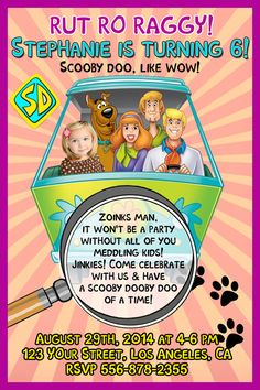 Printable Scooby doo time machine birthday party by PartyPrintable