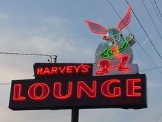 The evil rabbit.  Neon in Seattle. Photo by Patty Bodwell