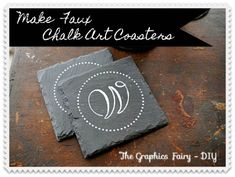How to make Chalk Art Coasters