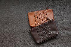 【然】handmade 手工编织 意大利植鞣牛皮拉链杂物小包 手机包-淘宝网