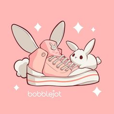 Kawaii kicks 🐰 cute art everyday made by 〰️ Tag + to inspire more cuteness into the world. Cute Kawaii Animals, Cute Animal Drawings Kawaii, Cute Drawings, Doodles Kawaii, Cute Doodles, Bunny Drawing, Bunny Art, Arte Do Kawaii, Kawaii Art