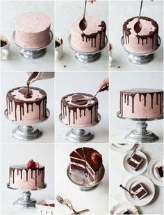 cake de Chocolate com Morango Drip Cake ou bolo com gotas é uma das nova. ,Drip cake de Chocolate com Morango Drip Cake ou bolo com gotas é uma das nova. , DIY Zement-Ostereier - frohe Ostern im Garten - schöne Idee - - - - - Cement Easter Eggs Cake Decorating Piping, Cake Decorating Designs, Cake Decorating Techniques, Simple Cake Decorating, Decorating Ideas, Bolo Drip Cake, Drip Cakes, Bolo Cake, Chocolate Strawberry Cake