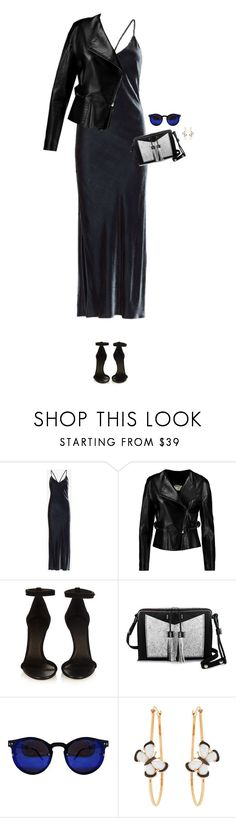 """How to Style a Black Velvet Slip Dress"" by outfitsfortravel ❤ liked on Polyvore featuring Exclusive for Intermix, Chloé, Isabel Marant, Carianne Moore, Christina Debs, women's clothing, women's fashion, women, female and woman"