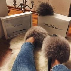 Beautiful Nude Big Oversized Fluffy Fur Sliders Size 3,4,5,6,7 Limited Stock New