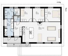 Simons Hus - Elementtitalot - VIDE Small House Plans, Future House, Beach House, Floor Plans, Flooring, How To Plan, Architecture, Layouts, Buildings