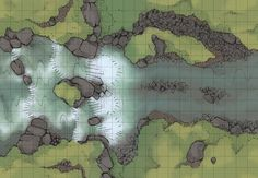 The Meadow Falls, a battle map for D&D / Dungeons & Dragons, Pathfinder, Warhammer and other table top RPGs. Tags: river, water, wilderness, plains