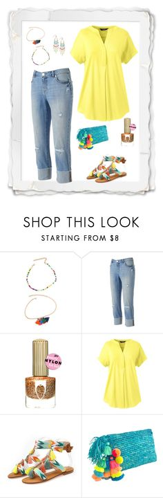 """Geen titel #446"" by miriam-witte ❤ liked on Polyvore featuring Jennifer Lopez, Lands' End and INC International Concepts"
