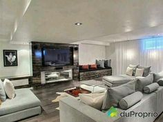 Your basement flooring options are not really any different from the flooring options elsewhere in your home. Everything from ceramics to hardwood, all are possible choices for your basement floor… Basement Furniture, Basement Flooring, Basement Stairs, Basement Renovations, Home Remodeling, Basement Colors, Basement Ideas, Basement Shelving, Home Reno