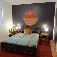 Boise Boys | Timber And Love | Luke Caldwell | HGTV | Realty | Mid Century modern | home renovation | Design | Boise Idaho | Boise Boys, Circle House, Love Design, Home Renovation, Mid-century Modern, Beach House, Master Bedroom, Mid Century, Seasons