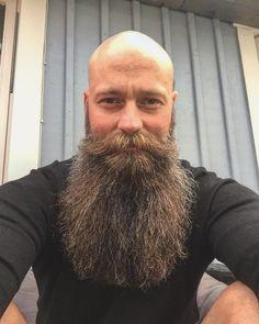 The Beard & The Beautiful Beards And Mustaches, Beard And Mustache Styles, Bald Men With Beards, Bald With Beard, Grey Beards, Full Beard, Long Beards, Beard No Mustache, Badass Beard