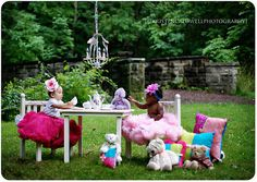 Tea Party fit for a couple of Princesses by Kristen Caldwell (like this, but with adults) - if Joy has that tutu ready, bring it!