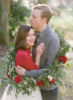 Festive wreath: http://www.stylemepretty.com/2014/02/14/valentines-day-love-notes-shoot/ | Photography: Katie Parra - http://katieparra.com/