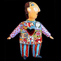 Man woman love, statue of man, human figures, Ceramic figurines people, love keepsake, gift for girlfriend, gift for boyfriend, heart gift by CeramicsGerasimenko on Etsy