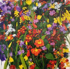 For Sale on - Flower Garden, Painting, Oil on Canvas, Oil Paint by Jenn Hallgren. Offered by Zatista. Paintings I Love, Original Paintings, Original Art, Oil On Canvas, Canvas Art, Balance Art, Acrylic Flowers, Garden Painting, Impressionist Paintings