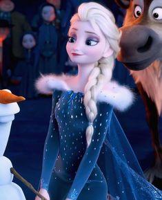 Frozen Love, Frozen Elsa And Anna, Olaf Frozen, Disney Princess Snow White, Disney Princess Frozen, Cute Disney Drawings, Elsa Dress, Disney Animation, Disney Movies