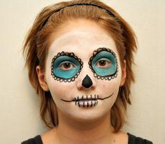 Sugar Skull Makeup for Tweens