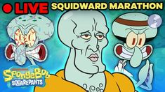 🔴 LIVE: An Entire SQUIDWARD Marathon! | SpongeBob