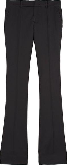 GUCCI WOMEN'S 448498ZHM021120 BLACK WOOL PANTS.