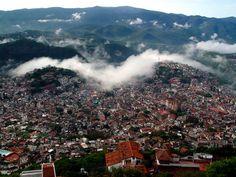 Taxco nublado, con niebla o neblina, nubes, lluvioso o con lluvia