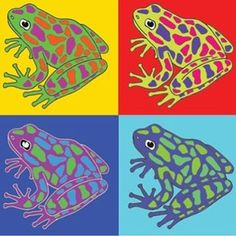 Poisonous frogs! Ribbit ribbit! #andywarhol #popart