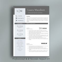 nice Best Professional Resume Template CreativeWork247 - Fonts, Graphics, T...