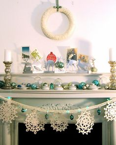 simple and classy snowflake garland