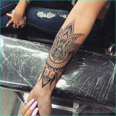 17 Unique Arm Tattoo Designs For Girls Sleeve Tattoo Design Forearm Mandala Tattoo, Henna Tattoo Sleeve, Tattoo Forearm, Mandala Tattoo Sleeve Women, Forearm Sleeve, Female Tattoo Sleeve, Tattoo Sleeves, Mendala Tattoo, Arm Wrap Tattoo
