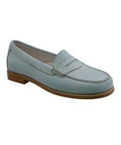 Look at this #zulilyfind! Spearmint Leather Loafer #zulilyfinds