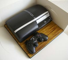 Playstation 3 cake Get the most wanted video games. Save money and play on. Gorgeous Cakes, Pretty Cakes, Amazing Cakes, Pie Cake, No Bake Cake, Playstation Cake, Ps3, Video Game Cakes, Video Games