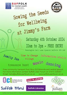 #Suffolk #Health and #Wellbeing Month: Sowing the Seeds for Wellbeing at #Jimmys-Farm