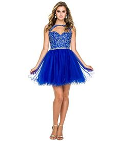 Royal Embellished Cutout Tulle Dress for Prom 2017 -- Find out more about the great product at the image link.
