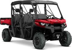 New 2017 Can-Am DEFENDER MAX XT HD10 RED ATVs For Sale in Alabama. 2017 CAN-AM DEFENDER MAX XT HD10 RED, The Defender MAX XT comes equipped with many factory-installed accessories including 27 in. (68.6 cm) Maxxis Bighorn 2.0 tires mounted on 14 in. (35.6 cm) wheels and Dynamic Power Steering for better handling and steering.