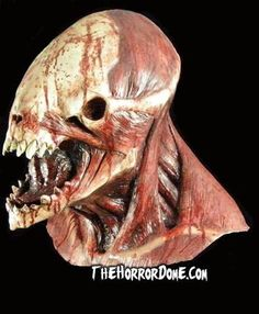 Dress up as a brutish, violent killing machine with the Meathead Monster Collector Halloween Mask from The Horror Dome. This original design is bone-chilling. Horror Monsters, Scary Monsters, Creature Feature, Creature Design, Red Clown Nose, Monster Mask, Monster Makeup, Beast, Head Mask