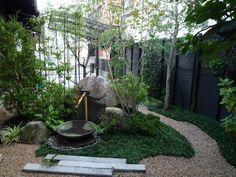 和風モダンがコンセプトの坪庭