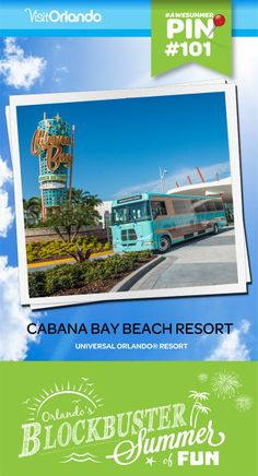 Experience Universal Orlando® for less at the retro-themed Universal's Cabana Bay Beach Resort, now open. This moderate and value priced property offers guests their choice of family suites complete with kitchenettes, or standard rooms, plus a wealth of recreation. With two huge pools, a lazy river, bowling alley, and more, it's unforgettable family fun at a great value, right in the heart of Universal Orlando's theme parks and non-stop nightlife. #cabanabay #visitorlando #awesummer